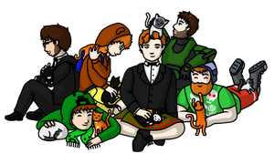 Achievement Hunter - Cats! by pixie-blue