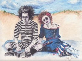 Sweeney Todd and Mrs. Lovett by PennyHorrible