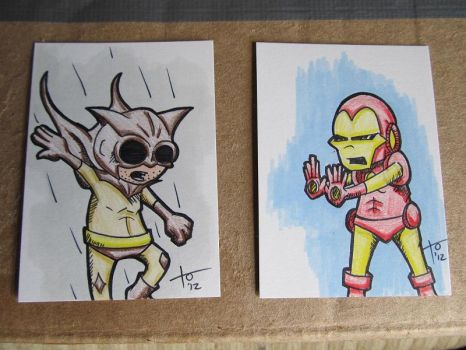 Couple of sketch cards by TOdesigns
