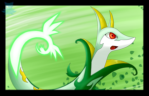 :Serperior used Leaf Blade: by Nero-Blackwing