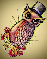 don't give a hoot coloured by BenjiRox