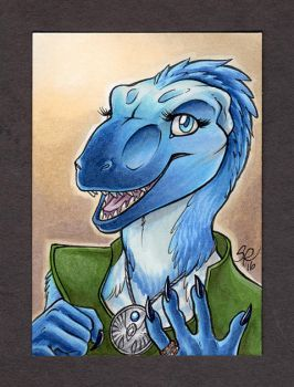 Sapphire ACEO Color Portrait by ScullyRaptor