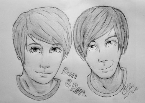 Dan and Phil Manga Style by NiviaCzarni