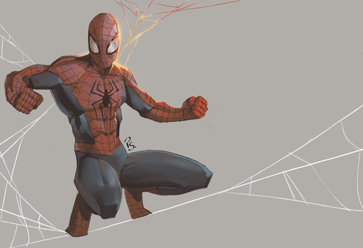 spider-man fanart by blackstyluss