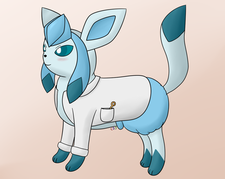 DeepFreeze the Proudly Diapered Scientist Glaceon by LuxrayBlast