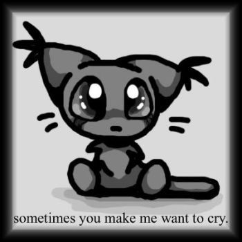 Sad Kitty by xl-technokitten-lx
