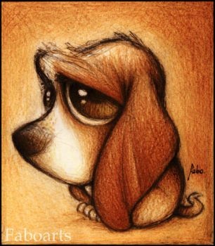 Basset hound by faboarts