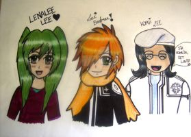 Lenalee, Lavi and Komui by SheikahLover