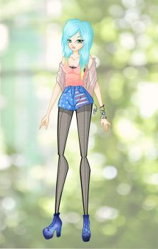 The Blue'haired Girl by lollipopsweet2