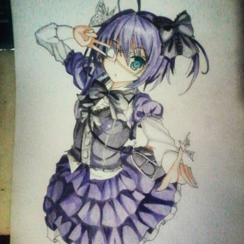 Drawing 6~~ Takanashi Rikka by girlsday1