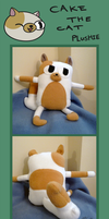 Adventure Time - Cake the cat plushie by caycowa