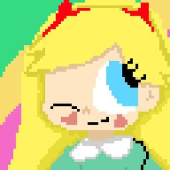 Star Butterfly Pixel art  by Ineedaphone2005