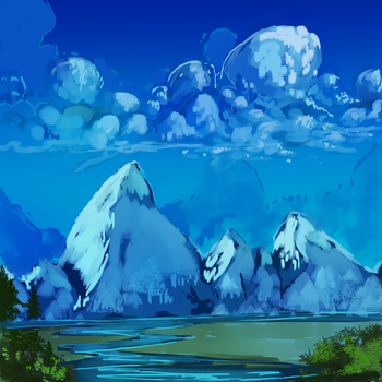 high mountains by dimifrost