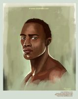 African character portrait painting by eydii