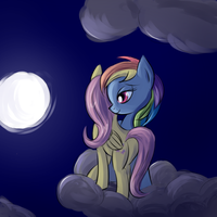 Somewhere at the night sky by fajeh