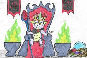 Bad End: Dragon King Spike by SkywalkerGirl666