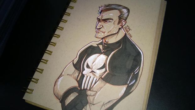 Brooding Frank Castle by riva13