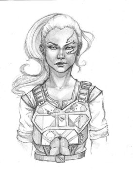 Cora sketch by AhrrieArt