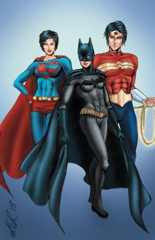 Gender-bend Justice League by Kauriga