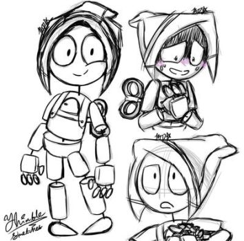 Thimble digital Sketches(not my oc) by CrystiliaLance