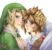 Link x Pit by Kiibie