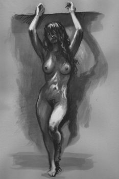 Nude - hanging about by Harnois75