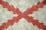 Cross of Burgundy ~ Grunge Flag by Undevicesimus