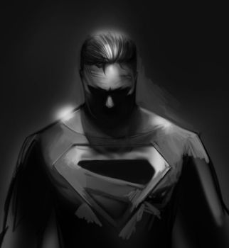 Rough superman by herobaka