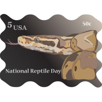 National Reptile Day Stamp by A-Nightmareous