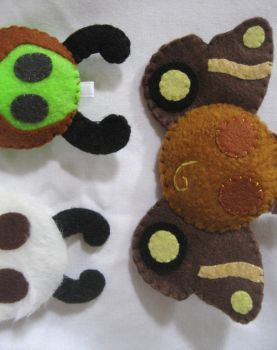 Moth Ball Plushes by P-isfor-Plushes