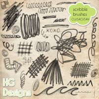 Doodle Scribble Brushes by HGGraphicDesigns