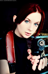In The Valkyrie's Eyes-RE2 Claire Redfield Cosplay by Hamm-Sammich