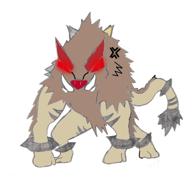 Paleo Primeape Colored by PerfectChaos22