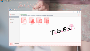 Tema Iconpackager Aqua Pink by TutosPixi