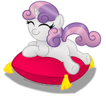 A cute little marshmallow on a pillow by AleximusPrime