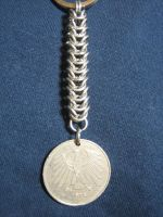 Chainmaille keychain 2 by chromegoddess