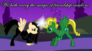 We Both Carry the Magic of Friendship inside us... by RisingSunYamamoto98