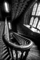 Stairs in Charleville Castle, Tullamore, Ireland by AdrianSadlier