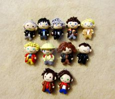 Doctor Who 11 Doctors Chibi Group by mAd-ArIsToCrAt