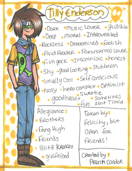 .:Tilly (1999) Reference Sheet:. by PrennCooder