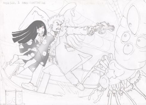 Hell Girl and Constantine by EricMor