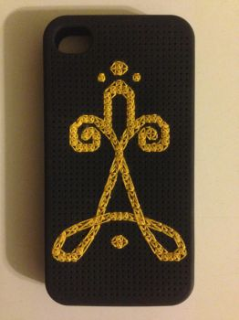 Anna Boot Symbol iPhone 4/4s Cross Stitch Case by ChaseYoungFangirl