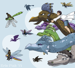 Dragons and Dragonflies by ErinPtah