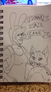 Fionna and Cake by CyanideEcstasy