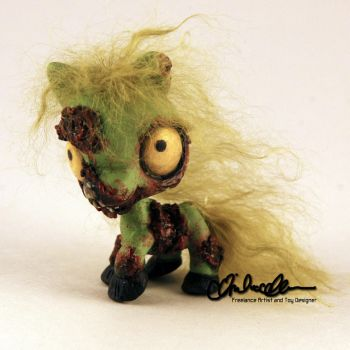 Littlest Zombie Pony custom LPS by thatg33kgirl