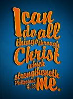 Philippians 4:13 - Poster by mostpato