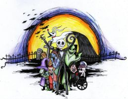 Tattoo Design of Nightmare before Christmas by Emily-Peacock
