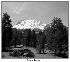 Mount Lassen Black and White by cra5her