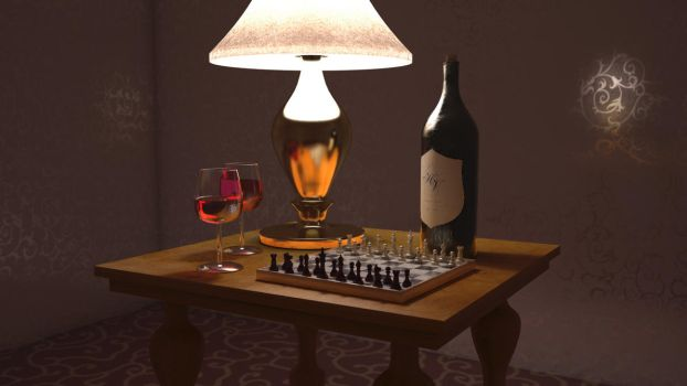 Table Scene - front view by SturmB