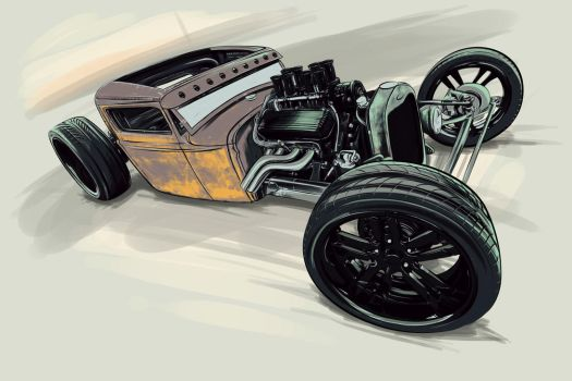 rat rod airbrush by SurfaceNick